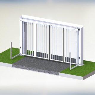 Speedgate Bovengeleiding 3D binnenaanzicht